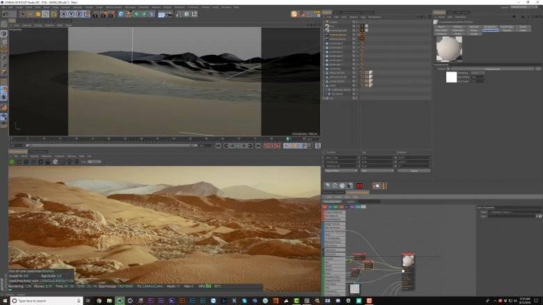 【R站译制】中文字幕 C4D教程《Octane宝典》火星地表环境(1/3) Mars Landscape 视频教程 免费观看 - R站|学习使我快乐! - 5