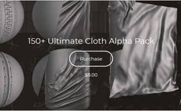 贴图纹理:150组布料扣子深度置换贴图素材 Flippednormals – 150+ Ultimate Cloth Alpha Pack 免费下载