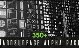 贴图纹理:科技质感350+硬表面深度置换贴图 ArtStation Marketplace – 350+ Hardsurface Alpha Pack 免费下载