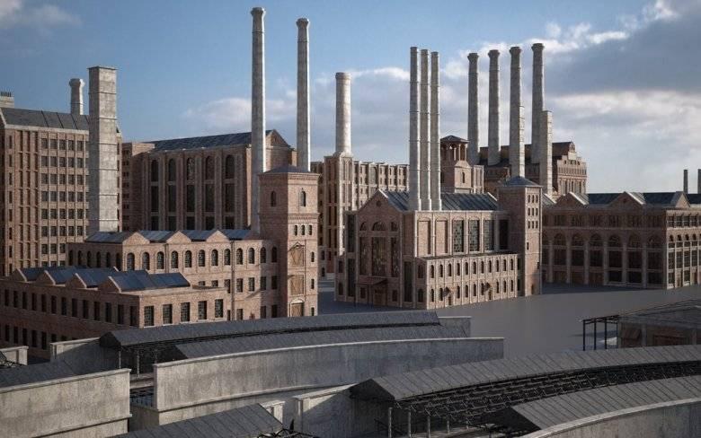 3D模型:工业革命城市中心场景 Kitbash3D - INDUSTRIAL 免费下载 - R站|学习使我快乐! - 4