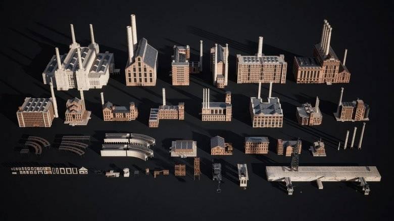 3D模型:工业革命城市中心场景 Kitbash3D - INDUSTRIAL 免费下载 - R站|学习使我快乐! - 5