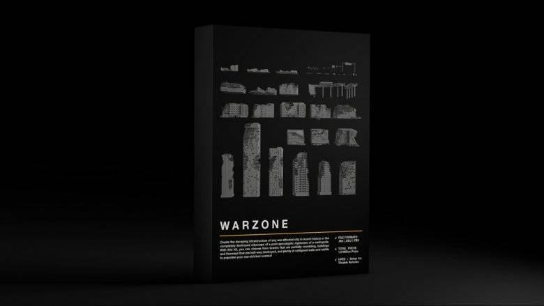 3D模型:战争废墟破旧建筑场景 Kitbash3D - WARZONE 免费下载 - R站 学习使我快乐! - 2