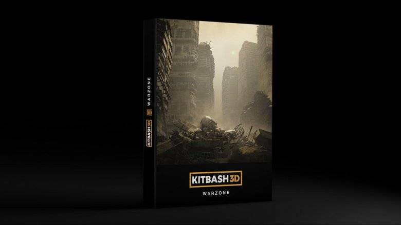 3D模型:战争废墟破旧建筑场景 Kitbash3D - WARZONE 免费下载 - R站 学习使我快乐! - 3