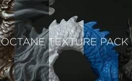 Octane材质:C4D Octane 4K 纹理材质预设专业包 -ThePixelLab – Octane Texture Pack Pro 免费下载