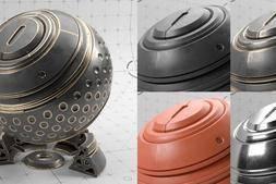 3D模型:RedShift 渲染器材质预览球模型 ShaderBall Scene 免费下载