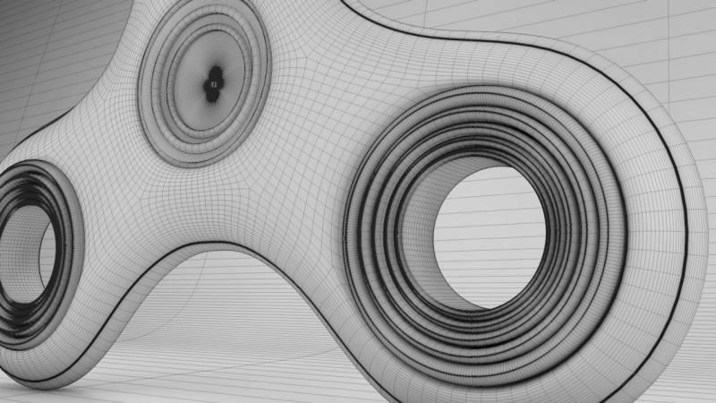 【腾小渔】C4D教程《指尖陀螺》建模 & C4D物理渲染 Fidget Spinner 视频教程 免费观看 - R站|学习使我快乐! - 5
