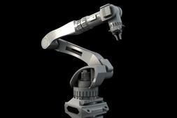 3D模型:工业机器手臂 Industrial Robot Arm (.C4D/.OBJ格式) 免费下载