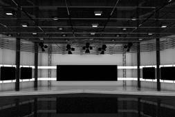 C4D工程: 演播室3D场景模型 Tv Studio (.C4D格式) 免费下载