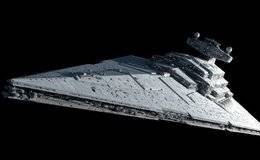 3D模型: 《星球大战》星际驱逐舰 Imperial Star Destroyer (.C4D/.OBJ格式) 免费下载