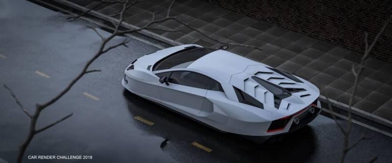 Hum3D第五届 2018年度最佳汽车渲染大赛 Car Render Challenge 2018 作品欣赏 多图慎入 - R站|学习使我快乐! - 25