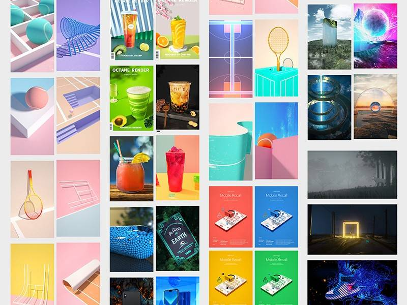 【石头大大叔】 最新 C4D & Octane 炫酷个人作品集欣赏 (附独家工程文件7个) 免费下载 - R站|学习使我快乐! - 1