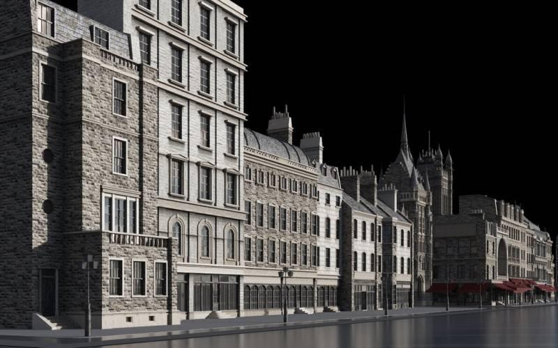 3D模型:维多利亚时代中世纪欧美建筑景观3D模型合集 Kitbash3D – Victorian (.OBJ/.FBX/.MA/.MTL格式) 免费下载 - R站 学习使我快乐! - 3