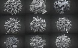 3D模型:612个机甲和机器人结构元素资源包 Big Pack Of 612 Pieces Kitbash Mech and Robots (.OBJ格式) 免费下载
