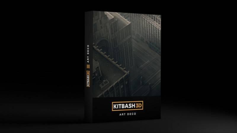 3D模型:欧美建筑景观装饰艺术景观3D模型合集 KITBASH3D ARTDECO (.OBJ/.FBX/.MA) 免费下载 - R站|学习使我快乐! - 1