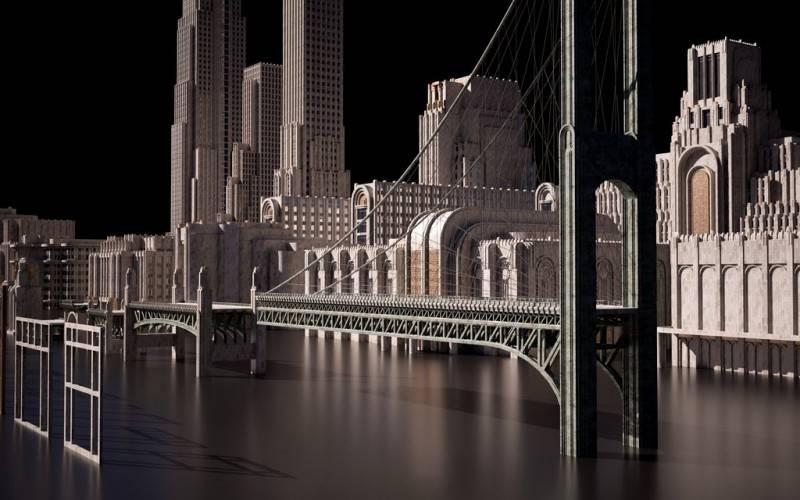 3D模型:欧美建筑景观装饰艺术景观3D模型合集 KITBASH3D ARTDECO (.OBJ/.FBX/.MA) 免费下载 - R站|学习使我快乐! - 4
