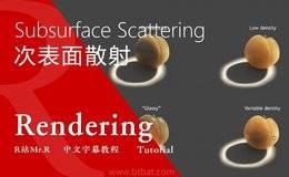 【VIP专享】中文字幕 《深入理解次表面散射(SSS)的高级原理》Subsurface Scattering 掌握举一反三的技能 视频教程