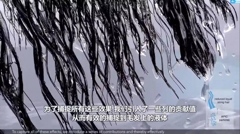 【R站译制】中文字幕 CG&VFX《模拟头发和流体相互作用的多尺度模型》Liquid&Hair Simulating 视频教程 免费观看 - R站|学习使我快乐! - 3