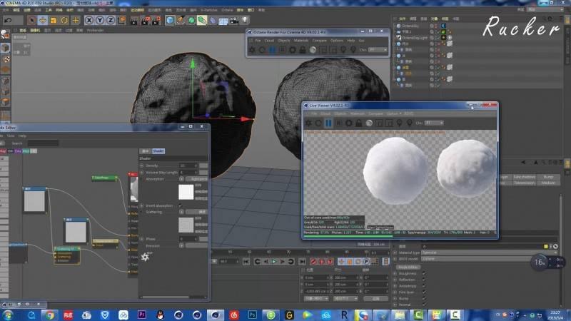 【老黄Rucker】C4D & X-particles 中文教程《冰天雪地科幻场景》雪、沙、冰材质、VFX特效等制作解析(含工程文件) 视频教程 免费观看 - R站|学习使我快乐! - 3