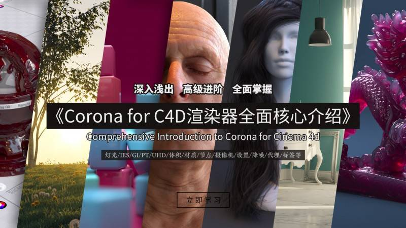 【R站译制】中文字幕《Corona渲染器全面高级核心宝典》Comprehensive Introduction to Corona for C4D 视频教程 强烈推荐 - R站|学习使我快乐! - 1