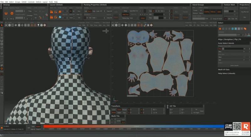 【锟曲】C4D & RedShift教程《异世未来 – 机械姬再现全流程解析》天青色 等烟雨 而我在等你 视频教程(含工程文件) 免费观看 - R站|学习使我快乐! - 4