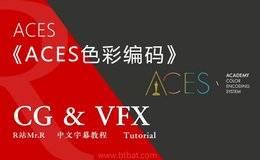 【R站译制】中文字幕 CG&VFX 《ACES专业色彩编码系统指南》光头大佬 包含Fusion, Resolve, AE工作流 视频教程 免费观看