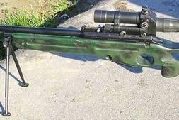 C4D模型:千米之外大杀器 SV-98狙击步枪3D模型 (.c4d格式) 免费下载