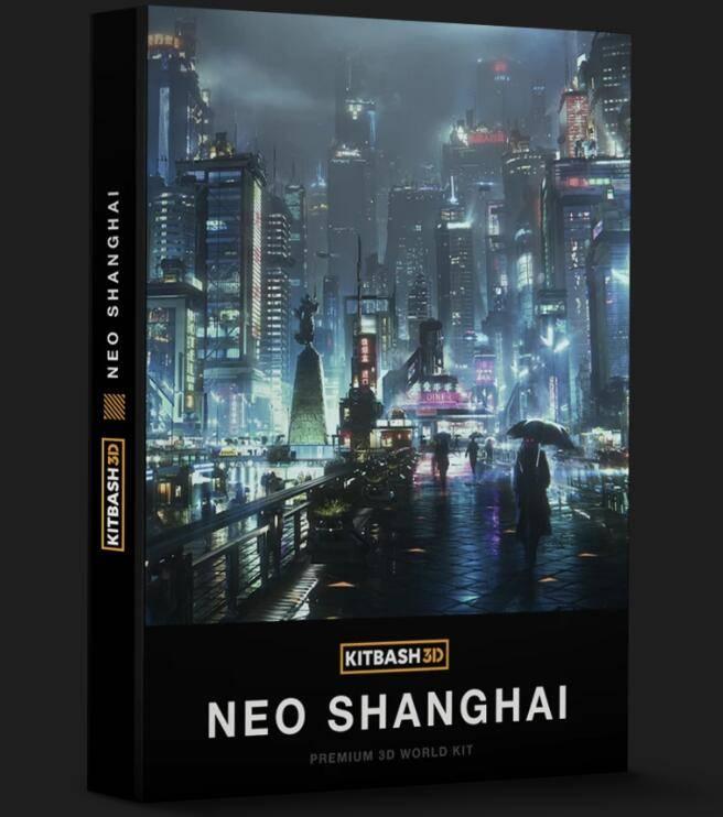 3D模型: 上海城市楼房未来科幻建筑3D高精度模型 Kitbash3d NeoShanghai (.MA/.MAX/.FBX/.OBJ/.Mlt格式/含材质贴图) - R站|学习使我快乐! - 1