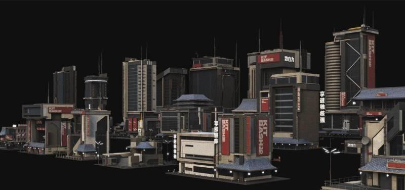 3D模型: 上海城市楼房未来科幻建筑3D高精度模型 Kitbash3d NeoShanghai (.MA/.MAX/.FBX/.OBJ/.Mlt格式/含材质贴图) - R站|学习使我快乐! - 4
