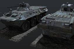 3D模型:陆地霸王 BTR80A 装甲输送车 3D模型 (.Fbx/.Max格式) 免费下载