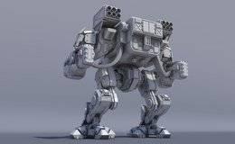 3D模型:重型装甲机甲3D精模 Assault Mech High Poly – 3D Model (.Fbx/.Max格式) 免费下载