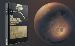 材质贴图: 50张污迹锈渍2K贴图材质包 TFM – Grunge Pack