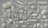 3D模型:49个工厂建筑、器械、设备、车间、单元等模型 Cgtrader – Factory Units-part-3 – 49 pieces 3D model (.Obj/.Fbx/.Max格式) 免费下载