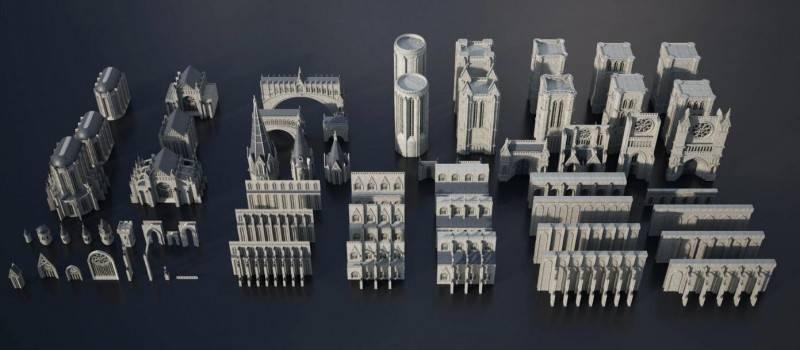 3D模型:暗黑史诗般哥特式城堡建筑包 Kitbash3D - Gothic (.MA/.FBX/.OBJ格式含材质) 免费下载 - R站|学习使我快乐! - 2