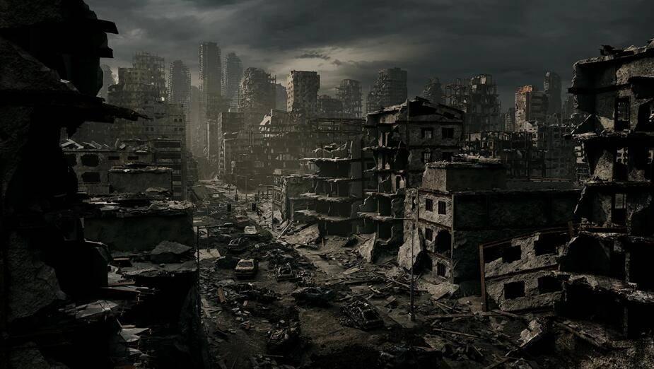 3D模型:末日毁灭战后废墟城市场景模型包 KitBash3D Aftermath (.FBX/.MTL格式含材质贴图) 免费下载 - R站|学习使我快乐! - 1