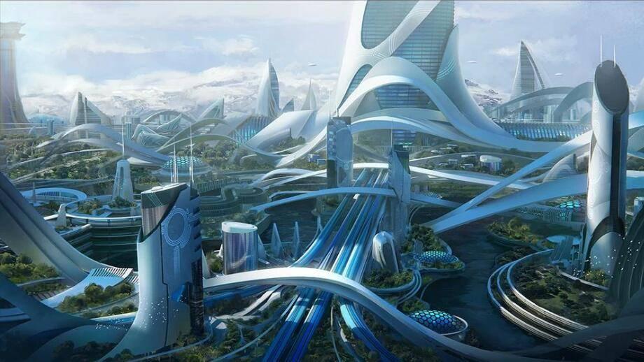 3D模型:未来概念创新科技城市建筑场景包 Kitbash3D - Utopia (.FBX/.OBJ/.MA./MAX格式) 免费下载 - R站|学习使我快乐! - 1