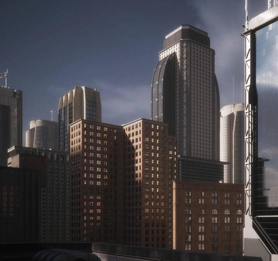 3D模型:现代和未来城市天际线建筑场景模型包 Kitbash3d - Mini Kit Skylines (.FBX/.OBJ/.MAX格式含材质贴图) 免费下载 - R站 学习使我快乐! - 1