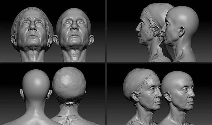 人物角色数字头像 (建模、雕刻、纹理) 创作图文工作流程 (6) DIGITAL FACE 牙、舌、眼、脸部等超强高级解析教程 - R站 学习使我快乐! - 7