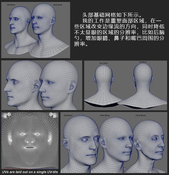 人物角色数字头像 (建模、雕刻、纹理) 创作图文工作流程 (6) DIGITAL FACE 牙、舌、眼、脸部等超强高级解析教程 - R站 学习使我快乐! - 2