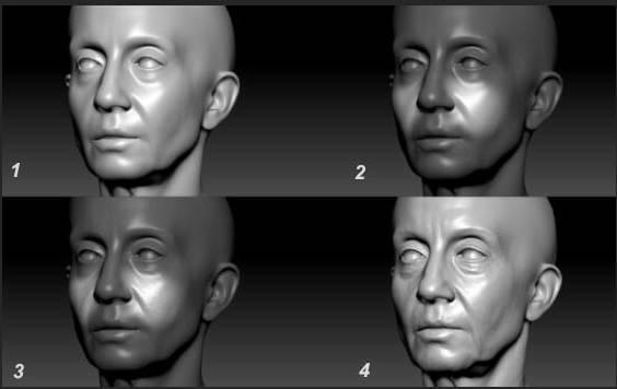 人物角色数字头像 (建模、雕刻、纹理) 创作图文工作流程 (6) DIGITAL FACE 牙、舌、眼、脸部等超强高级解析教程 - R站 学习使我快乐! - 4