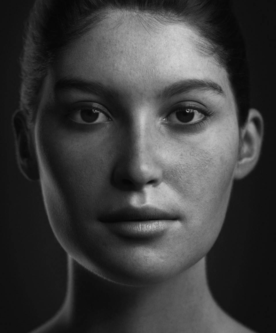 人物角色数字头像 (建模、雕刻、纹理) 创作图文工作流程 (4) 布光与最终渲染 DIGITAL FACE 全面解析教程 - R站 学习使我快乐! - 5