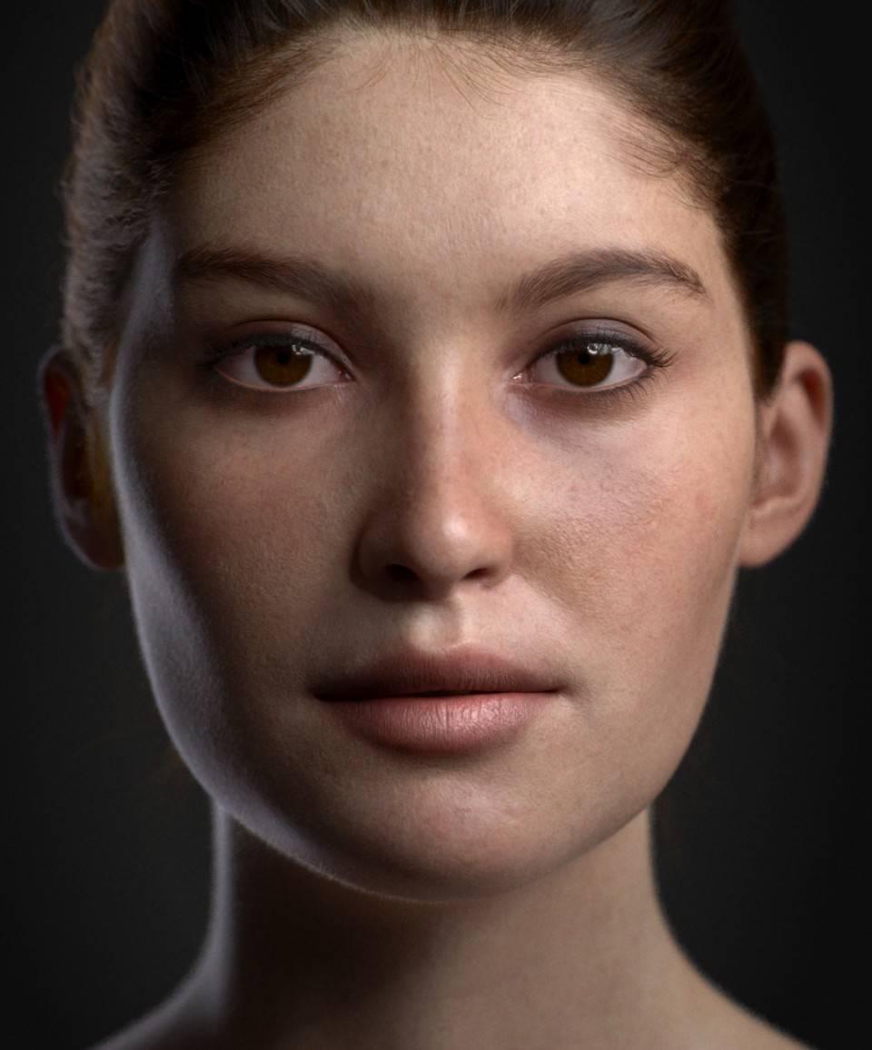 人物角色数字头像 (建模、雕刻、纹理) 创作图文工作流程 (4) 布光与最终渲染 DIGITAL FACE 全面解析教程 - R站 学习使我快乐! - 6