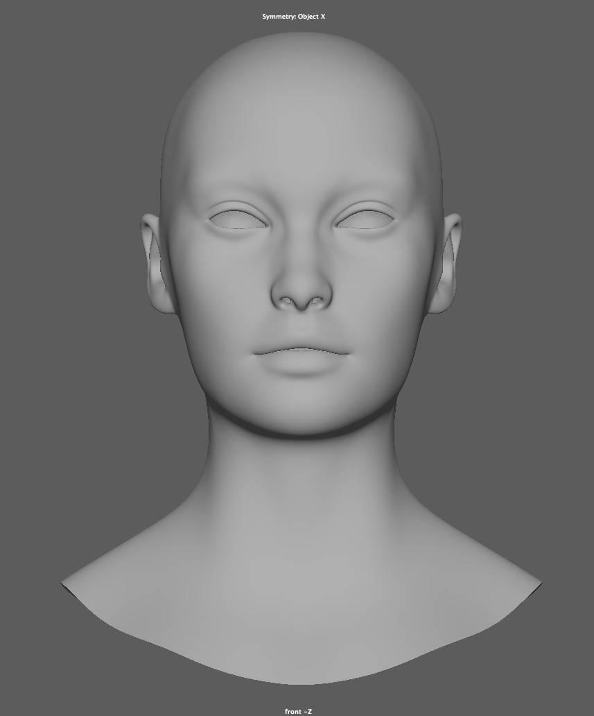 人物角色数字头像  (建模、雕刻、纹理) 创作图文工作流程 (2) 皮肤纹理 细节处理 DIGITAL FACE 全面解析教程 - R站|学习使我快乐! - 1