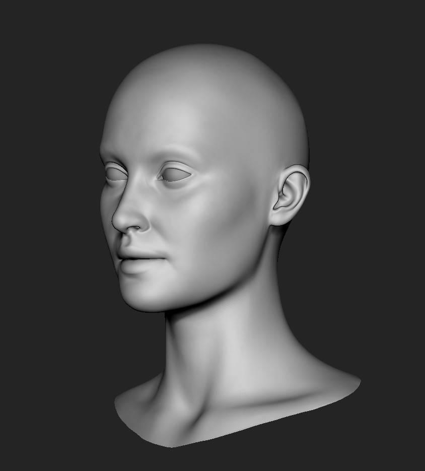 人物角色数字头像  (建模、雕刻、纹理) 创作图文工作流程 (1) 模型、纹理 DIGITAL FACE 全面解析教程 - R站|学习使我快乐! - 2