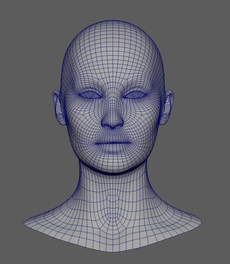 人物角色数字头像  (建模、雕刻、纹理) 创作图文工作流程 (1) 模型、纹理 DIGITAL FACE 全面解析教程 - R站|学习使我快乐! - 1