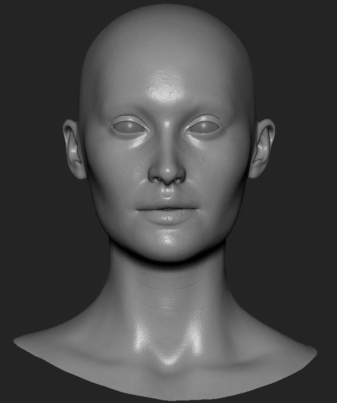 人物角色数字头像  (建模、雕刻、纹理) 创作图文工作流程 (2) 皮肤纹理 细节处理 DIGITAL FACE 全面解析教程 - R站 学习使我快乐! - 3