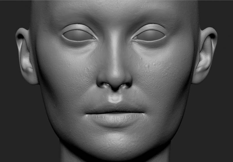 人物角色数字头像  (建模、雕刻、纹理) 创作图文工作流程 (1) 模型、纹理 DIGITAL FACE 全面解析教程 - R站|学习使我快乐! - 3