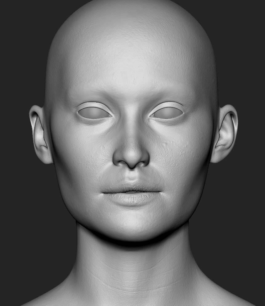 人物角色数字头像  (建模、雕刻、纹理) 创作图文工作流程 (2) 皮肤纹理 细节处理 DIGITAL FACE 全面解析教程 - R站|学习使我快乐! - 4