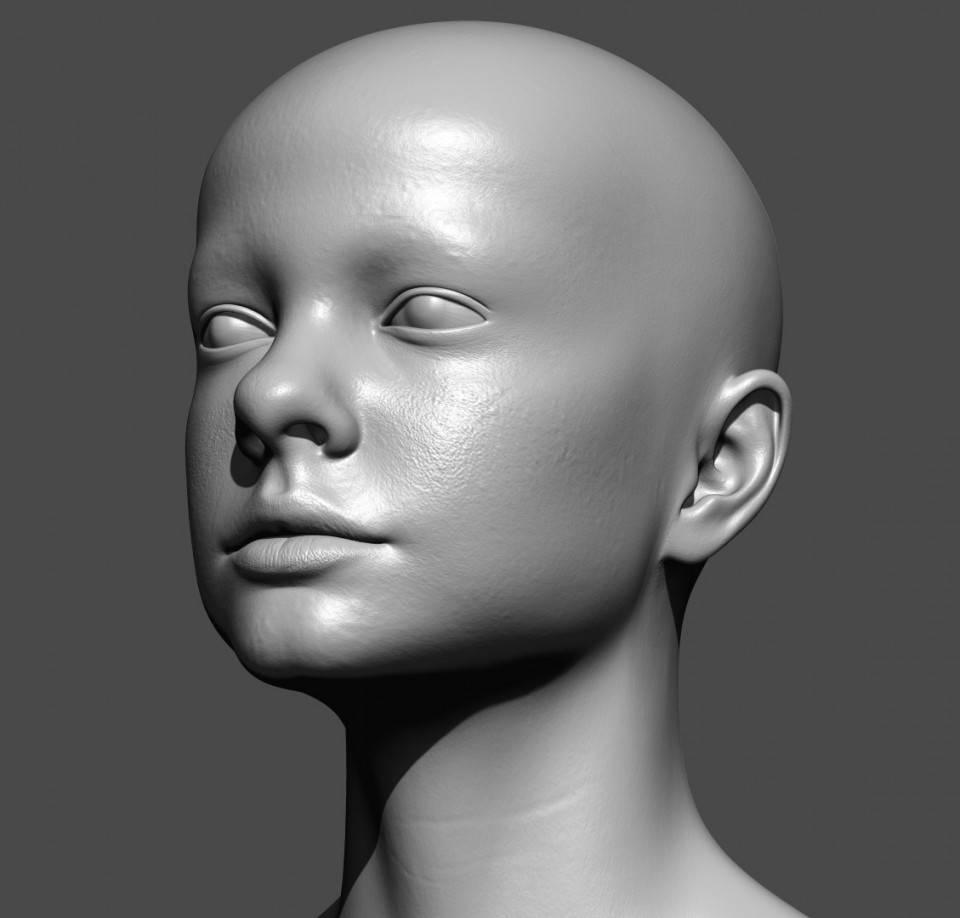 人物角色数字头像 (建模、雕刻、纹理) 创作图文工作流程 (5)  DIGITAL FACE 全面解析教程 - R站|学习使我快乐! - 5