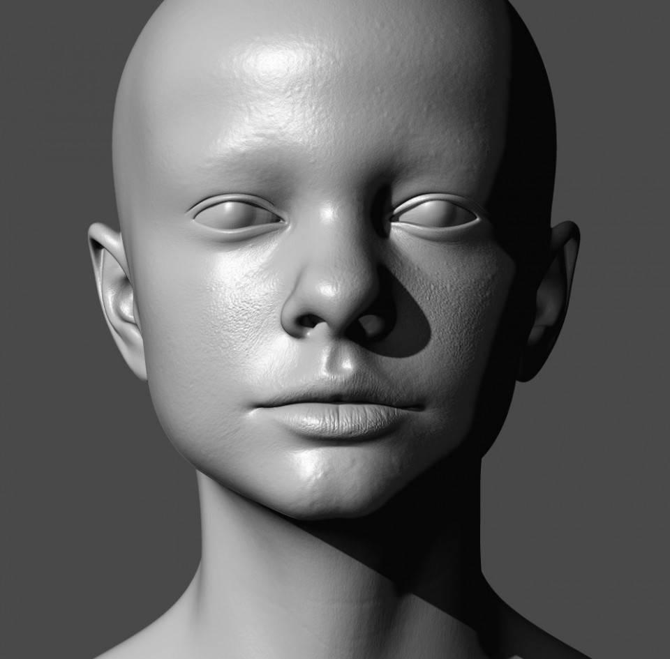 人物角色数字头像 (建模、雕刻、纹理) 创作图文工作流程 (5)  DIGITAL FACE 全面解析教程 - R站|学习使我快乐! - 4