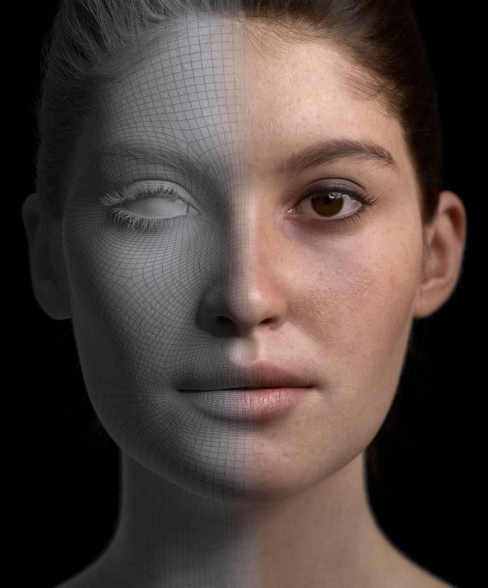 人物角色数字头像 (建模、雕刻、纹理) 创作图文工作流程 (4) 布光与最终渲染 DIGITAL FACE 全面解析教程 - R站|学习使我快乐! - 2